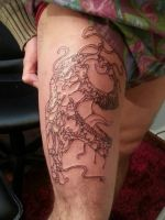 Carnage tattoo, session 1 by flaviudraghis