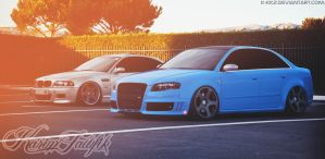 Audi RS4 - Bmw M3 by K-KKZ