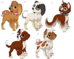 Puppy adoptabels NONE left by The1andonlyRaven