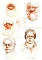 Practicing the human head and mouth by hakepe