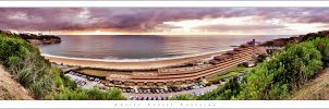 Anglet Sunset Panorama by Nylons