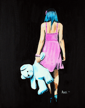 Lost Girl - 11 x 14 Oil Painting by AprilsInk