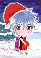Kuroko Santa. Merry X'mas and Happy New Year 2013 by CrezyKiss