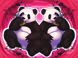 Panda Munchin' by shesta713