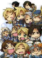 Final fantasy dudes poster by T3hb33