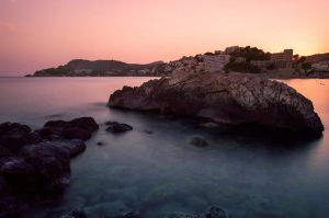 Sunset over Paguera by Roman89