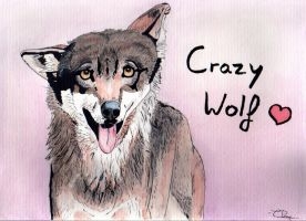 Crazy wolf by Cooki3Art