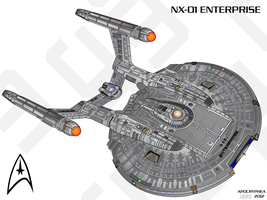 NX-01 Enterprise - Vector Art by Apocryphea