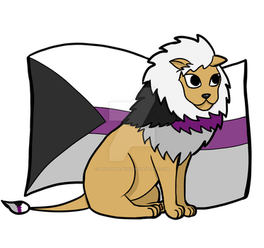 Demisexual Pride Lion by marzipan-pond