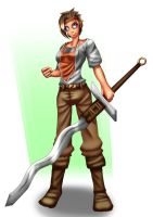 Noah the swordwoman by Number-Seventeen
