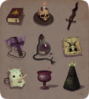 Occult items by henrikutvonen