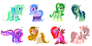 ~Long Maned Pony Adopts~ CLOSED by IIbukiMioda
