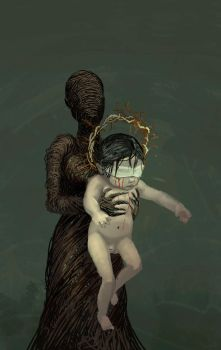 Wicker mother and holy child concept art by zelldweller