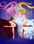Black Lady and Usagi by Stacy-L-Gage