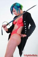 Babe in Blazer with Blade by sydeline