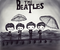 The Beatles - chibi by LarissaAV