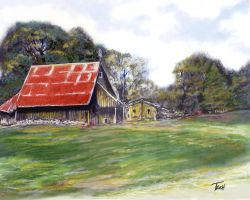 RED BARN by letroc25