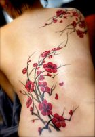 My plum blossoms Tattoo by loreblob