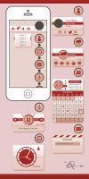 CandyCandy interface and widget design by BenceBalaton