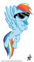 Rainbow Dash -sunglasses- by Ardas91