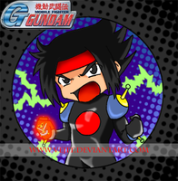 Chibi Domon badge by Vejit
