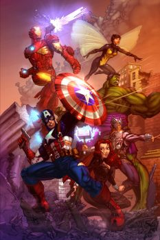 Avengers Assembled! by cehnot