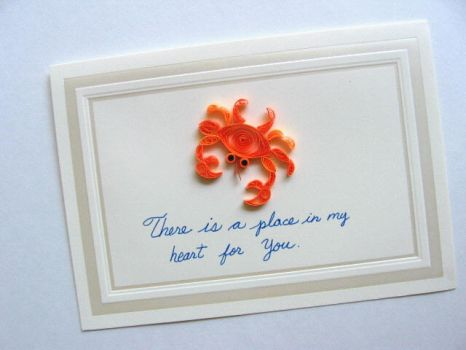 Aug.07,Orange Crab in Quilling by eidatwong