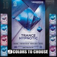 TRANCE HYPNOTIC FLYER TEMPLATE by MCerickson
