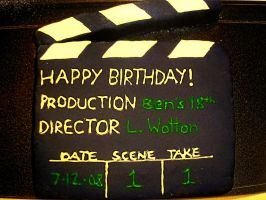 Movie-themed birthday cake by 1-Lilith-1