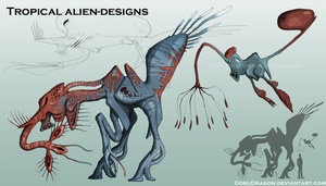 Alien designs by DoruDrutt
