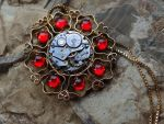 Steampunk medallion by Hiddendemon-666