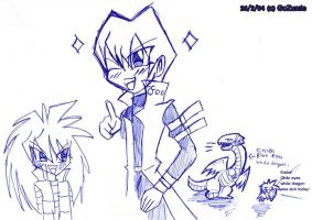 Kaiba brother and card by GoZumie