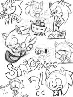 sonic the hedgehog sketches by cruiseblues