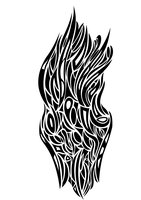Abstract Tribal Flame by MaybyAGhost
