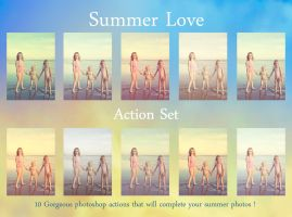 Summer Love Action set by chupla