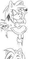 Amy Rose Doodles by Klaudy-na