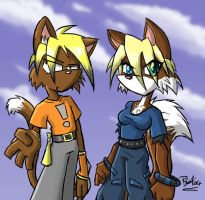Corbine and Young by evilchibiminion