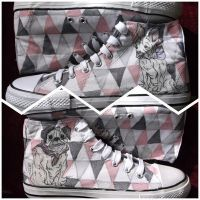 Pug and Frenchie Hi Tops by Gemsville