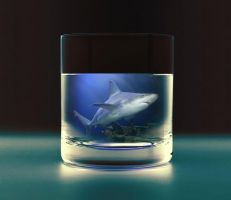 Shark in the cup PSD by wsaconato