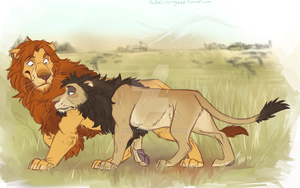 Lion AU: Old Friends by Aibyou