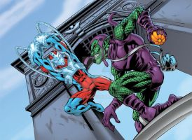 Punch Spidey VS Green Gob by Shugga