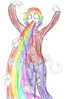 Rainbow Puke and i am not even Gay by fechi