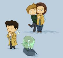 Supernatural chibi by Lo-Relei
