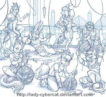 YCH Egyptian Yarn Party Finished by lady-cybercat