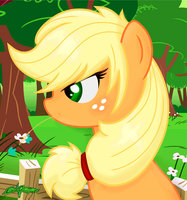 Applejack -Think- by Godoffury