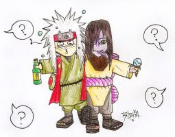 Orochimaru and Jiraiya by Donovv