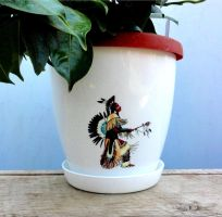 Flower pots, full color decorative by naraosart