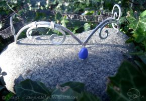 Circlet and blue bead by sarya-atelier