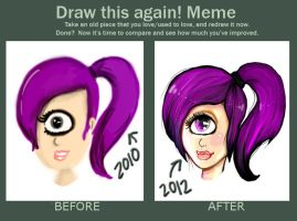 Draw This Again Meme: Leela by Rubysnuff