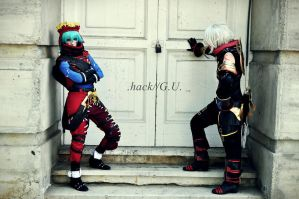 .hack G.U. - Azure Kite and Haseo by HauntedKing